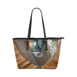 our dimension of Time Leather Tote Bag/Large (Model 1651)