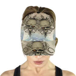Creepy skull, vintage background All Over Print Dad Cap C (7-Pieces Customization)