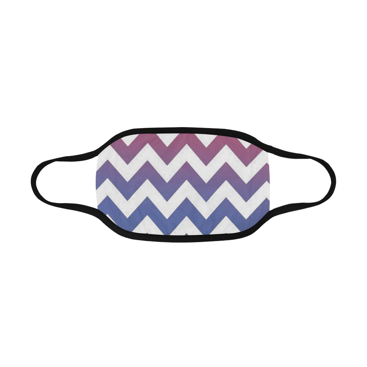 pink blue black ombre chevron Mouth Mask