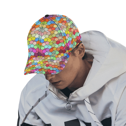 Colorful Polygon Pattern All Over Print Dad Cap C (7-Pieces Customization)