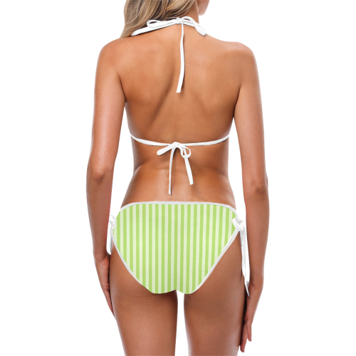 Lime Stripes Custom Bikini Swimsuit (Model S01)