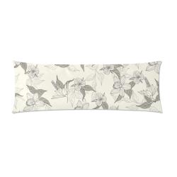 "Aloha Flowers Custom Zippered Pillow Case 21""x60""(Two Sides)"
