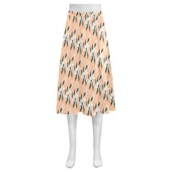Flowers Mnemosyne Women's Crepe Skirt (Model D16)