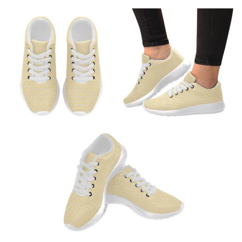 Polka Dot Pin Pastel Orange by Jera Nour Women's Running Shoes/Large Size (Model 020)