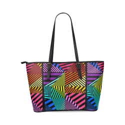 abstracto en color Leather Tote Bag/Large (Model 1640)