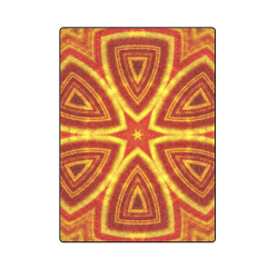 "red and gold kaleidoscope Blanket 58""x80"""