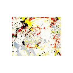 "Black, Red, Yellow Paint Splatter Poster 14""x11"""