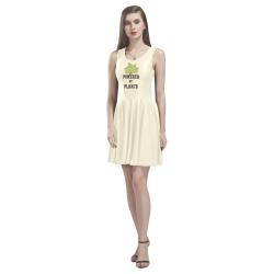 Powered by Plants (vegan) Thea Sleeveless Skater Dress(Model D19)