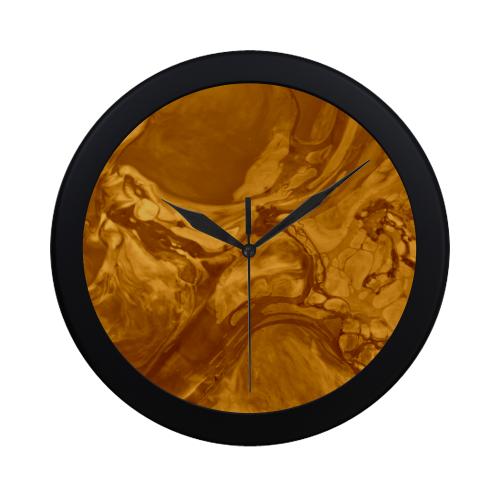 Swirl Vintage Brown. Circular Plastic Wall clock