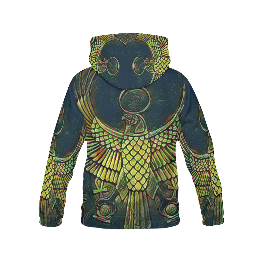 Hieroglyphs I Airbrush All Over Print Hoodie for Men/Large Size (USA Size) (Model H13)