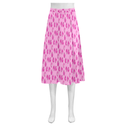 Rose petals Mnemosyne Women's Crepe Skirt (Model D16)