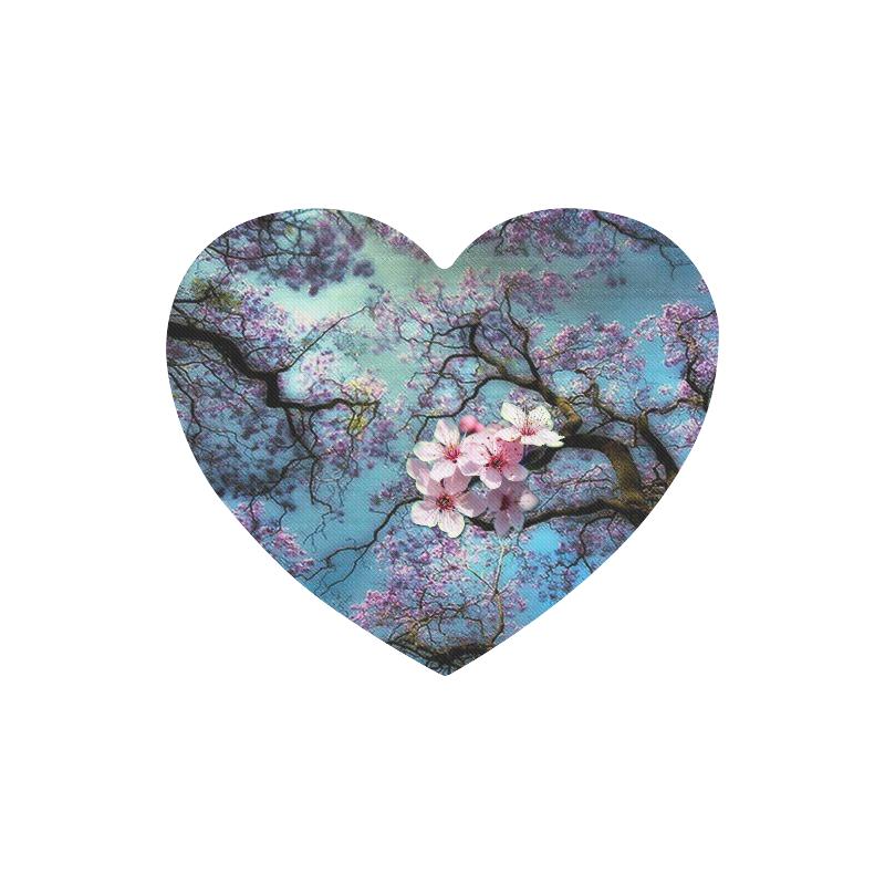 Cherry blossomL Heart-shaped Mousepad