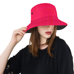 FLAMIN PINK All Over Print Bucket Hat