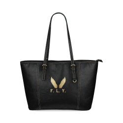 F. L. Y. Wings Tote Bag Leather Tote Bag/Small (Model 1640)