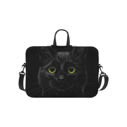 "Black Cat Laptop Handbags 10"""
