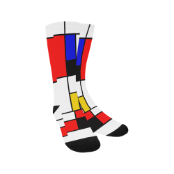 Bauhouse Composition Mondrian Style Trouser Socks