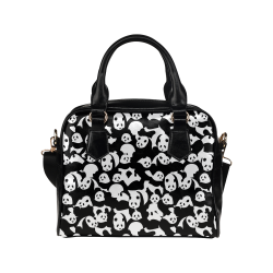 Panda Pattern Shoulder Handbag (Model 1634)
