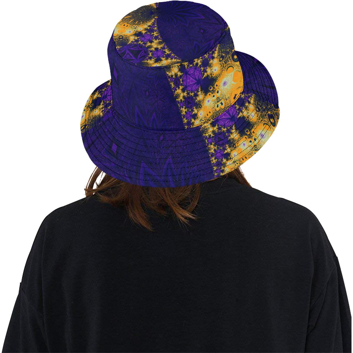 Twilight Jungle Leaves All Over Print Bucket Hat
