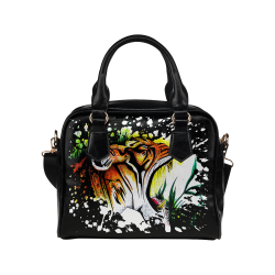 Tiger Roar Shoulder Handbag (Model 1634)