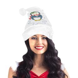 Adorable Christmas Penguin White Santa Hat