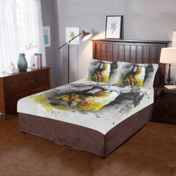 bird parrot art #parrot #bird 3-Piece Bedding Set