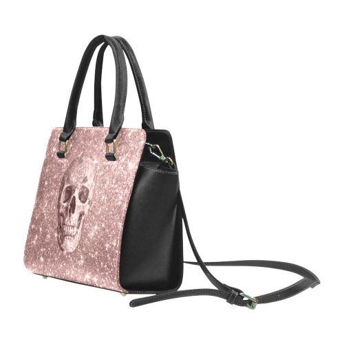 Modern sparkling Skull  by JamColors Rivet Shoulder Handbag (Model 1645)