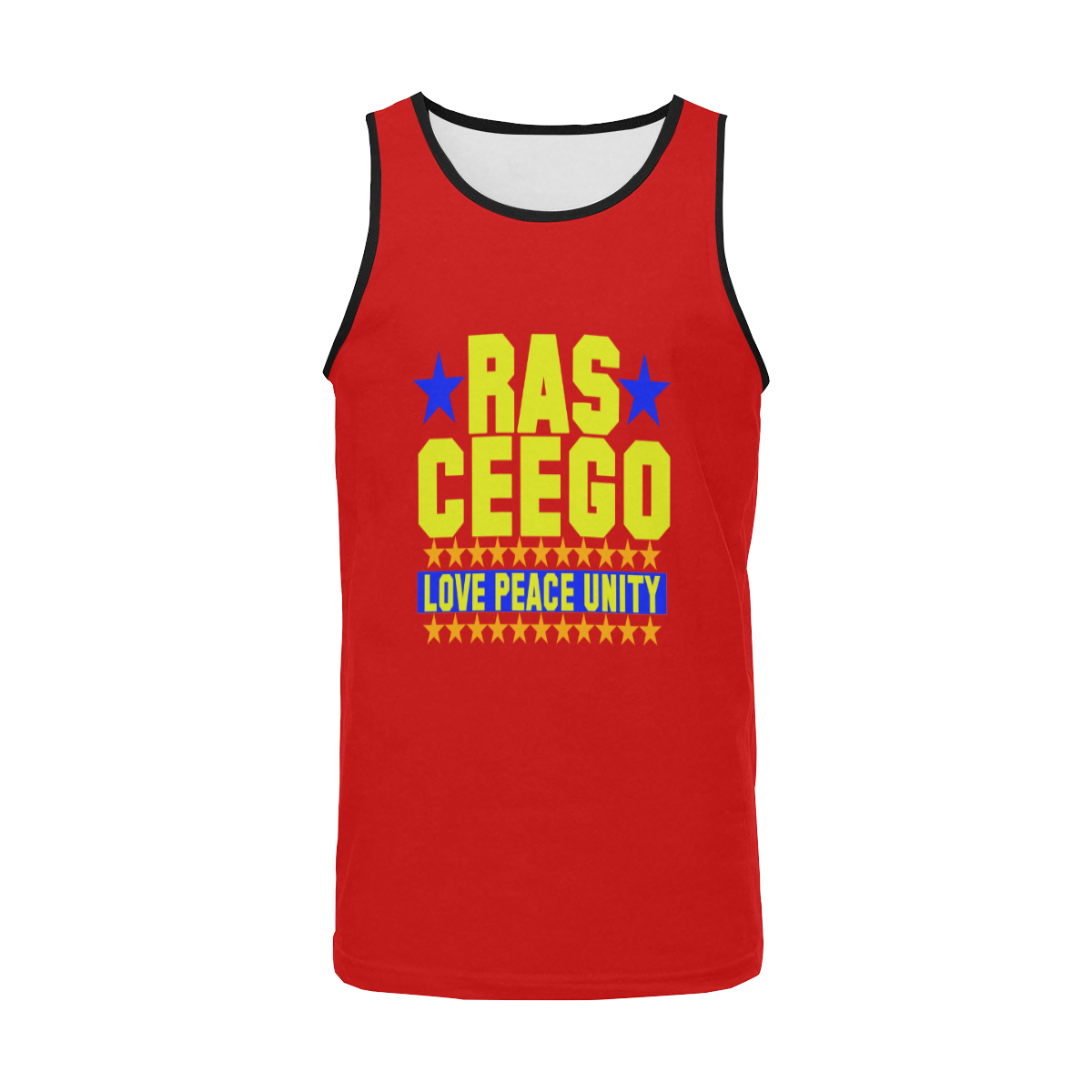 Ras CeeGo red orange blue yellow Men's All Over Print Tank Top (Model T57)