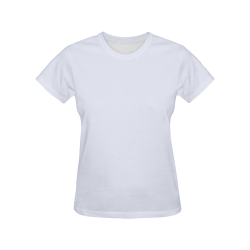 Brilliant White All Over Print T-Shirt for Women (USA Size) (Model T40)