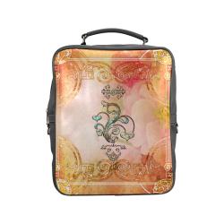 Wonderful hearts, vintage background Square Backpack (Model 1618)