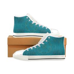 spiritual sun is raising  peace of mind sea Men's Classic High Top Canvas Shoes (Model 017)
