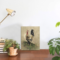 """Country Rooster Photo Panel for Tabletop Display 6""""x8"""""""