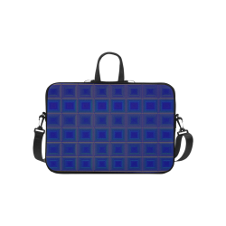 Royal blue golden multicolored multiple squares Laptop Handbags 10""