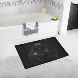 Black Cat Bath Rug 20''x 32''