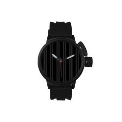 Gray/Black Vertical Stripes Men's Sports Watch(Model 309)