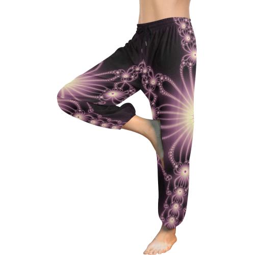 Pink Flower Bloom Women's All Over Print Harem Pants (Model L18)