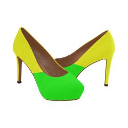 Bright Neon Yellow / Green Women's High Heels (Model 044)