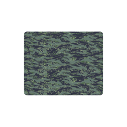 Jungle Tiger Stripe Green Camouflage Rectangle Mousepad