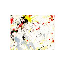 "Yellow & Black Paint Splatter Poster 14""x11"""