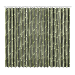 """Bamboo forest Window Curtain 52""""x96""""(Two Piece)"""