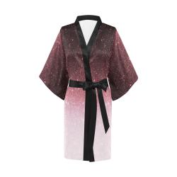 rose gold Glitter gradient Kimono Robe