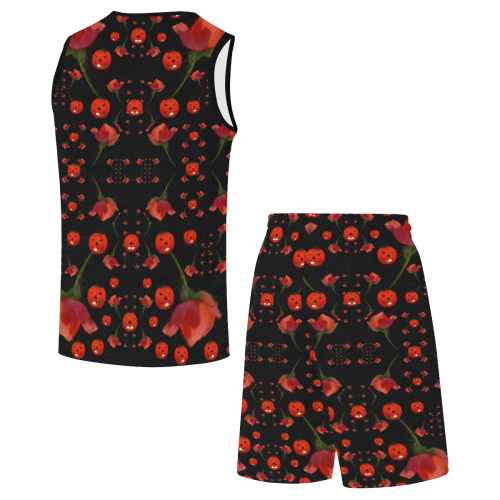 pumkins and roses from the fantasy garden All Over Print Basketball Uniform