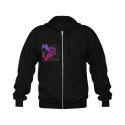 Abstract #9 2020 Gildan Full Zip Hooded Sweatshirt (Model H02)