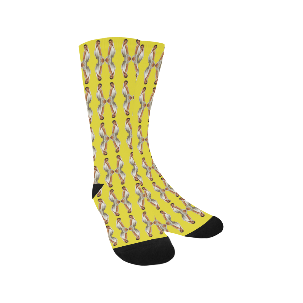 kylie yellow Trouser Socks