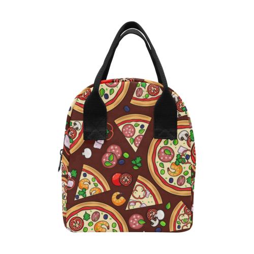 Pizza Lunch Bag Zipper Lunch Bag (Model 1689)
