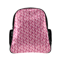 Fantasy Dragon Scales Pattern Multi-Pockets Backpack (Model 1636)