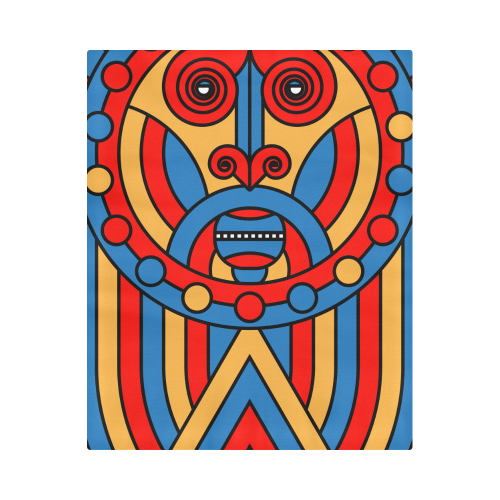 "Aztec Maasai Lion Tribal Duvet Cover 86""x70"" ( All-over-print)"