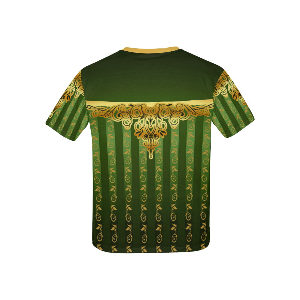 Coat of arms of Armenia Kids' All Over Print T-Shirt with Solid Color Neck (Model T40)