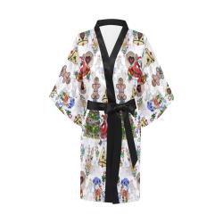 Christmas  Popart by Nico Bielow Kimono Robe