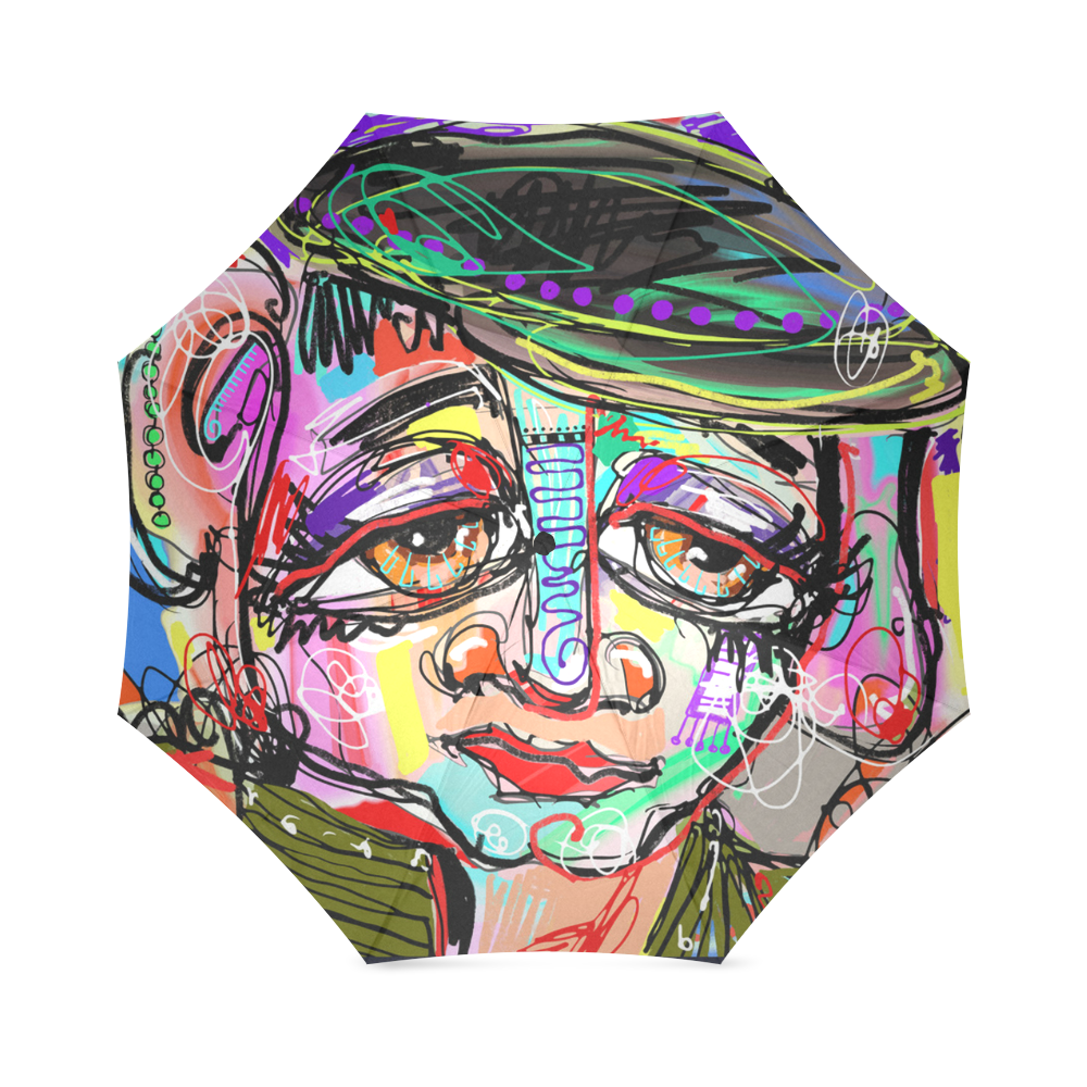 Contemporary Art Human Face Foldable Umbrella (Model U01)