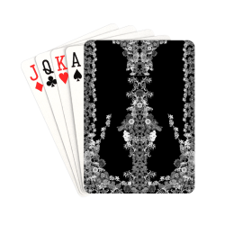 "floral-black Playing Cards 2.5""x3.5"""